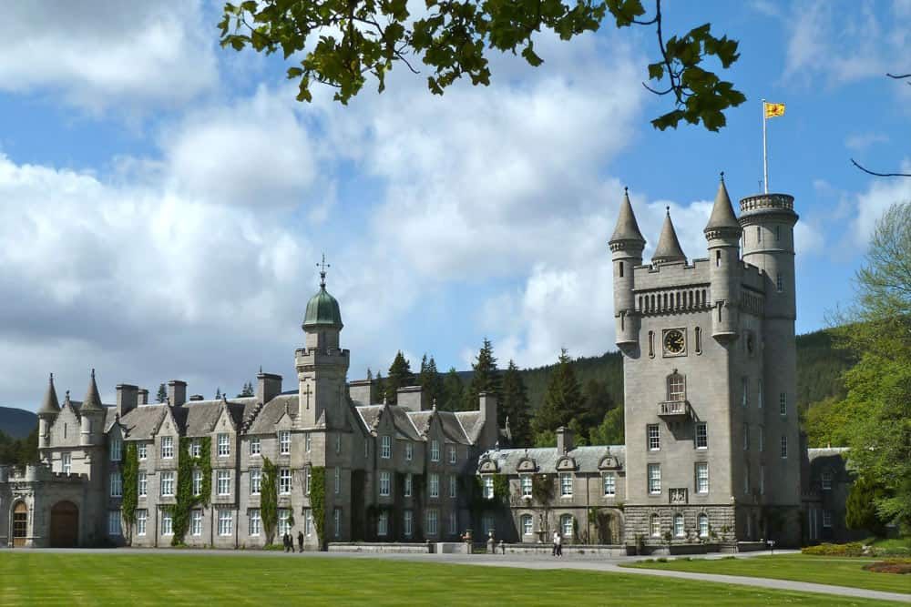 Balmoral Castle near the Alexandra Hotel Ballater, Royal Deeside, Scotland